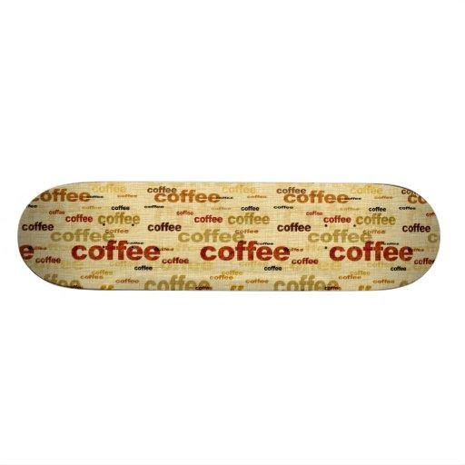 Papel pintado del café skateboards
