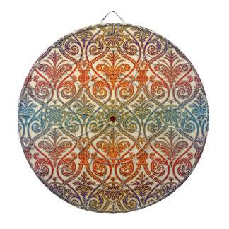 Papel pintado del contorno del damasco del vintage