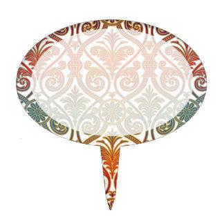 Papel pintado del contorno del damasco del vintage decoraciones de tartas