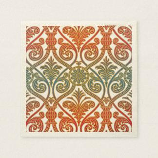 Papel pintado del contorno del damasco del vintage servilletas desechables