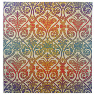 Papel pintado del contorno del damasco del vintage servilletas imprimidas