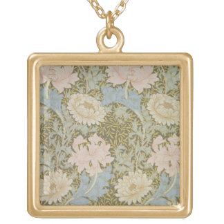 "Papel pintado del ""crisantemo"", 1876 (papel pintad collar dorado"