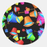 Papel pintado del cubo de la playa etiqueta