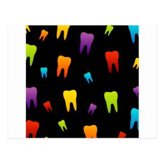 Papel pintado del diente para el dentista tarjetas postales