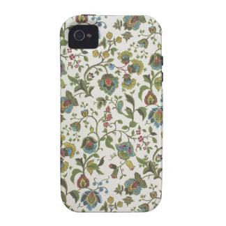 papel pintado del diseño Indio-inspirado, floral, iPhone 4 Carcasa