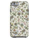 papel pintado del diseño Indio-inspirado, floral, Funda De iPhone 6 Tough