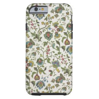 papel pintado del diseño Indio-inspirado, floral, Funda Para iPhone 6 Tough