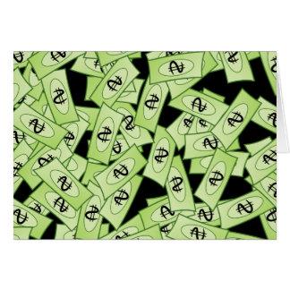 Papel pintado del dólar tarjeta de felicitación