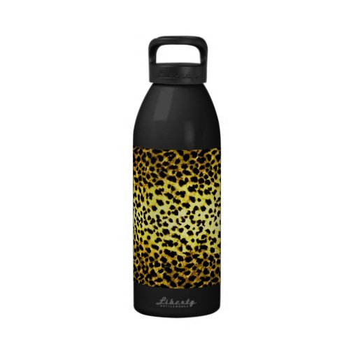 Papel pintado del estampado leopardo botallas de agua
