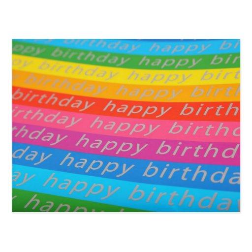 Papel pintado del feliz cumpleaños tarjeta postal