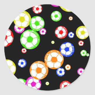 Papel pintado del fútbol pegatina redonda