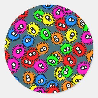 Papel pintado del germen pegatina redonda
