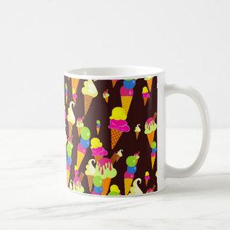 Papel pintado del hielo taza de café
