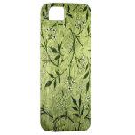 Papel pintado del jazmín de Morris iPhone 5 Case-Mate Fundas