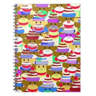 Papel pintado del mono spiral notebook