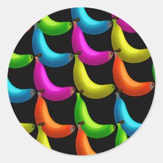 Papel pintado del plátano etiqueta