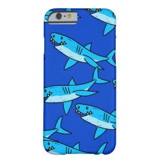 Papel pintado del tiburón funda para iPhone 6 barely there