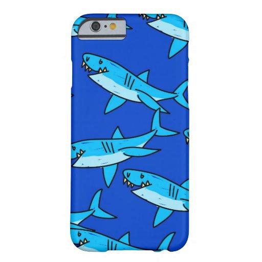 Papel pintado del tiburón funda de iPhone 6 slim