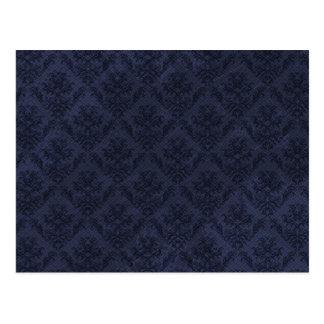Papel pintado del vintage de los azules marinos postal