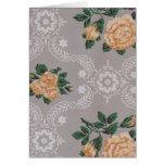 Papel pintado del vintage de los rosas del oro tarjetas