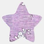 """Papel pintado del vintage de """"Suki"""" - púrpura Calcomania Forma De Estrella"""