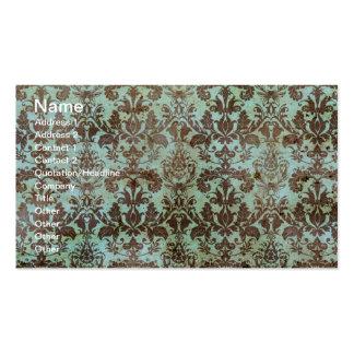 Papel pintado del vintage del chocolate y de la me tarjetas de visita