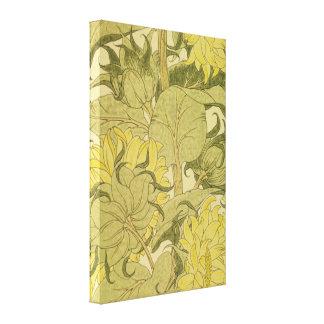 Papel pintado del vintage del girasol impresión en lona estirada