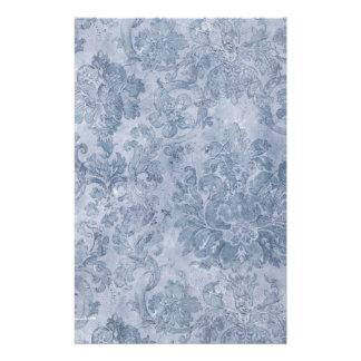 papel pintado del vintage del gris azul papeleria