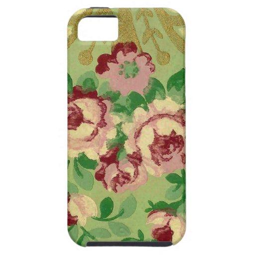 Papel pintado del vintage iPhone 5 Case-Mate carcasas