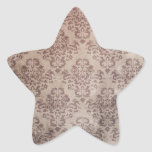 Papel pintado del vintage pegatina en forma de estrella