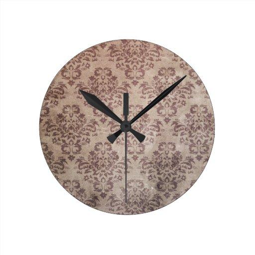 Papel pintado del vintage reloj redondo mediano