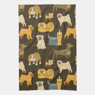 Papel pintado diverso de los perros toallas
