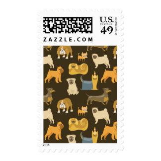 Papel pintado diverso de los perros sellos