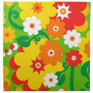 Papel pintado divertido del flower power servilleta imprimida