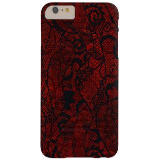 Papel pintado elegante del cordón del vintage funda de iPhone 6 plus barely there