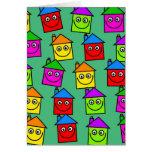 Papel pintado feliz de la casa tarjeta
