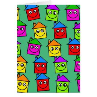 Papel pintado feliz de la casa tarjeta de felicitación