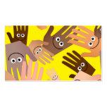 Papel pintado feliz de las manos tarjeta de visita