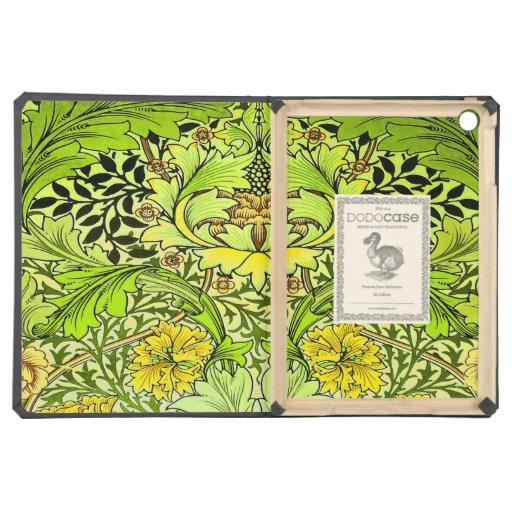 Papel pintado floral amarillo y verde de William M