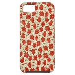 Papel pintado floral de la amapola del vintage iPhone 5 protectores