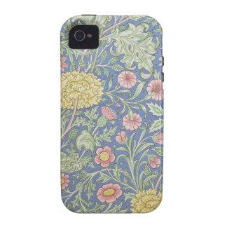 Papel pintado floral de William Morris, diseñado Vibe iPhone 4 Funda