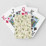 Papel pintado floral del vintage cartas de juego