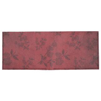 Papel pintado floral del vintage de la flor billeteras tyvek®
