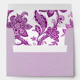 Papel pintado floral del vintage de lino del vinta sobres