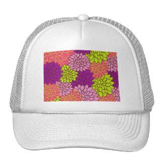 Papel pintado floral del vintage gorras