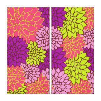 Papel pintado floral del vintage impresión en lona
