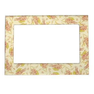 Papel pintado floral del vintage marcos magneticos de fotos