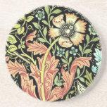 Papel pintado floral del vintage posavasos personalizados