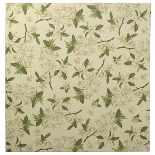Papel pintado floral del vintage servilletas