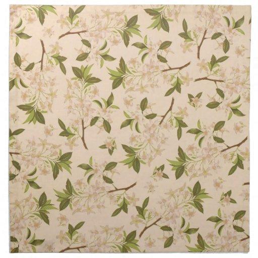 Papel pintado floral del vintage servilletas imprimidas